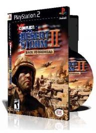 Conflict Desert Storm II با کاور کامل و چاپ روی دیسک