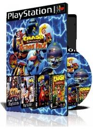 Crash Bandicoot Action pack چهار عدد بازی با قاب وچاپ روی دیسک