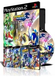 Sonic ps2 Collection چهار عدد بازی با قاب وچاپ روی دیسک