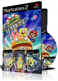 Spongebob Trilogy سه عدد بازی با قاب وچاپ روی دیسک