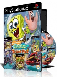 Spongebob Action Pack سه عدد بازی با قاب وچاپ روی دیسک