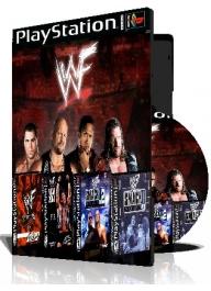 WWF کشتی کج چهار عدد بازی با قاب وچاپ روی دیسک